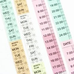 Week Day Functional Washi Tape