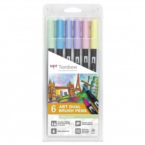 tombow abt dual brush pastel set