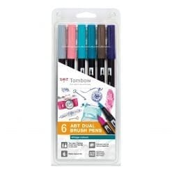 Tombow ABT Dual Brush Set Vintage Colours