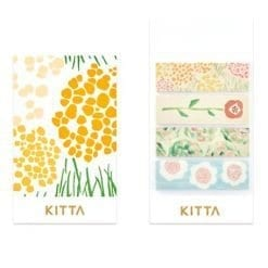 Kitta washi stickers Flower KIT022 King Jim