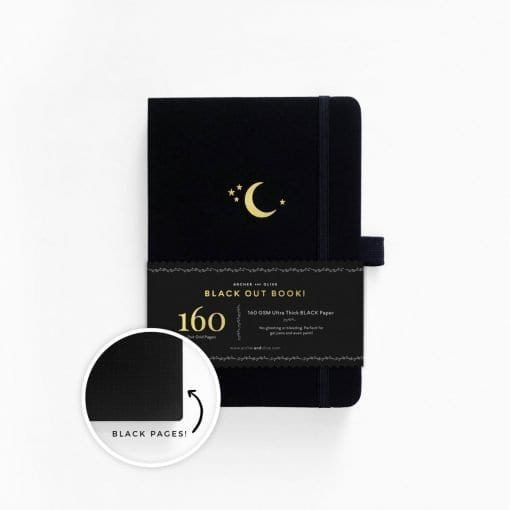 Archer and Olive blackout book crescent moon cover
