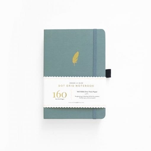 Archer & Olive A5 Floating Feather Dot Grid Notebook_1