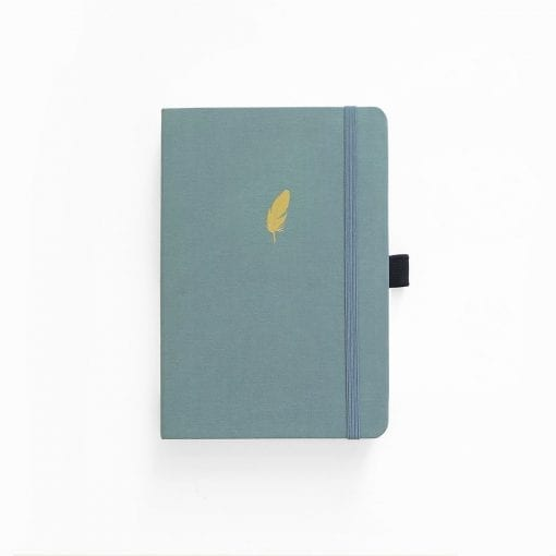 Archer & Olive A5 Floating Feather Dot Grid Notebook