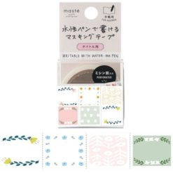 Maste' pre cut date flower washi tape