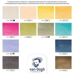Van Gogh Muted Colours swatches