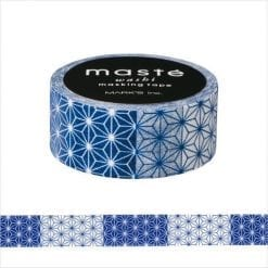 Maste' Blue Asanoha Washi Tape