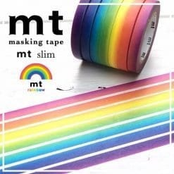 mt rainbow slim washi tape set