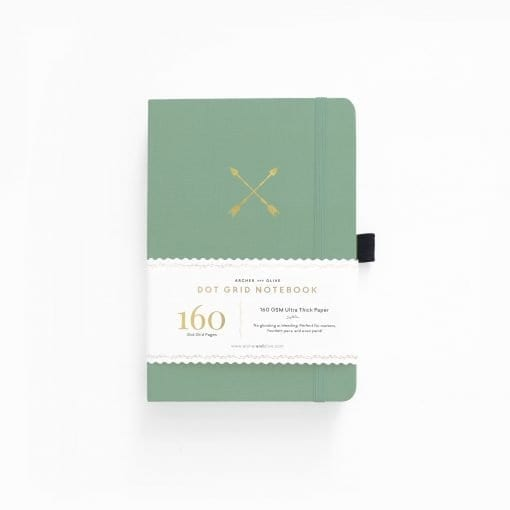 Archer & Olive A5 twin arrows 160pgs dot grid notebook