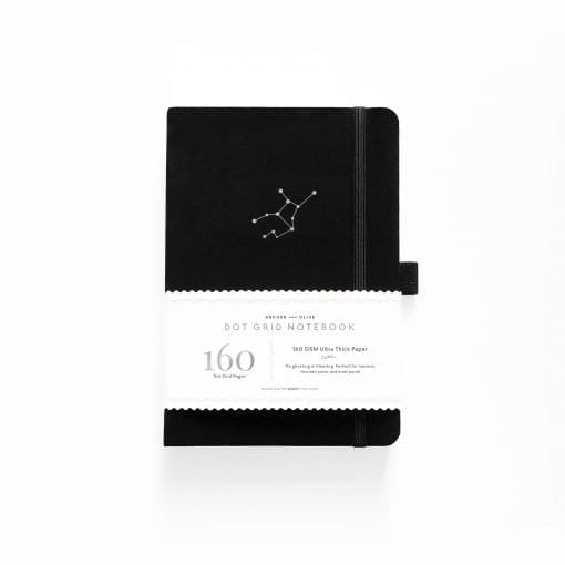 A5 Archer & Olive Zodiac - Virgo Dot Grid Notebook Cover