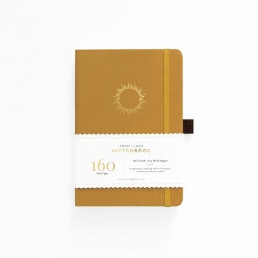A5 Archer & Olive Morning Sun Sketchbook - Blank Pages Notebook