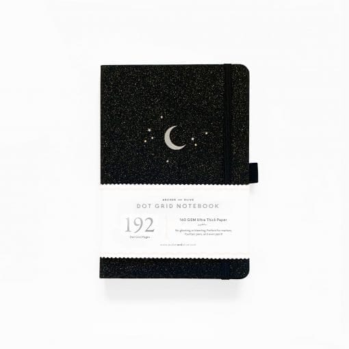 Archer & Olive Forest Night 192 pages dot grid notebook