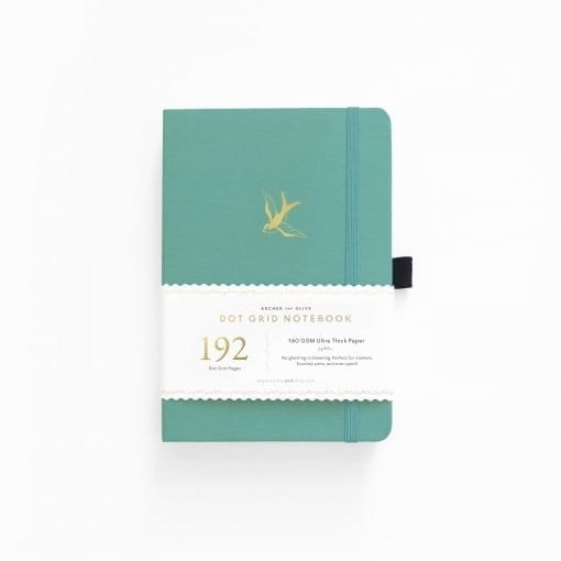 Archer & Olive Gliding Swallow A5 192 pages dot grid notebook