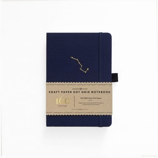Archer & Olive A5 Kraft Paper Dot Grid Notebook Night Sky