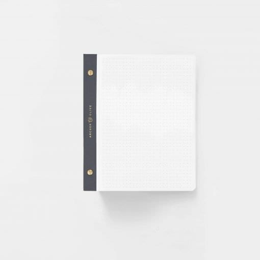 A5 Archer & Olive White Dot Grid Notepad