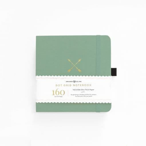 A5 Archer & Olive Twin Arrows 8x8 Square Dot Grid Notebook