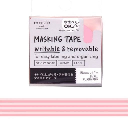 Masté Draw Me Pink Stripes Washi Tape