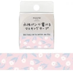 Masté Draw Me Washi Tape Pink Flowers