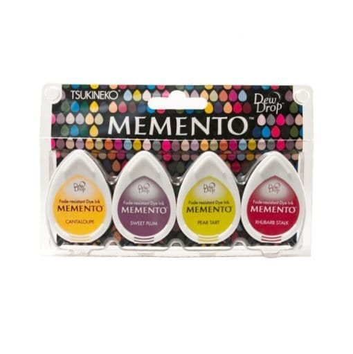 Tsukineko Memento Dew Drop Ink Pads 4-Pack - Farmer's Market