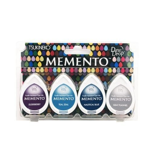 Tsukineko Memento Dew Drop Ink Pads 4-Pack - Dolphin Play