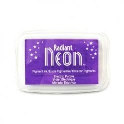 Tsukineko Radiant Neon Ink Pad - Electric Purple