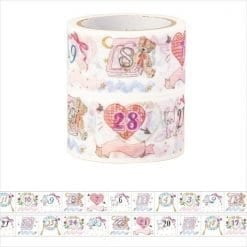 Masté Pre-Cut Date 'Girly' Washi Tape