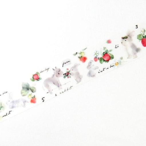 Round Top x Liang Feng Rabbit in Orchard Washi Tape