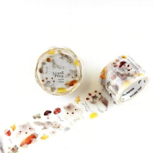 Round Top x Liang Feng Squirrel Washi Tape