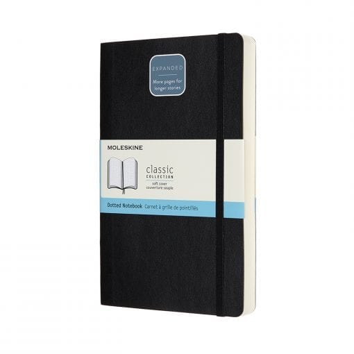 Moleskine Classic Expanded Version Notebook Dot grid pages softcover