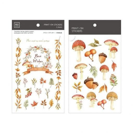 MU Print-On Stickers - Mushrooms