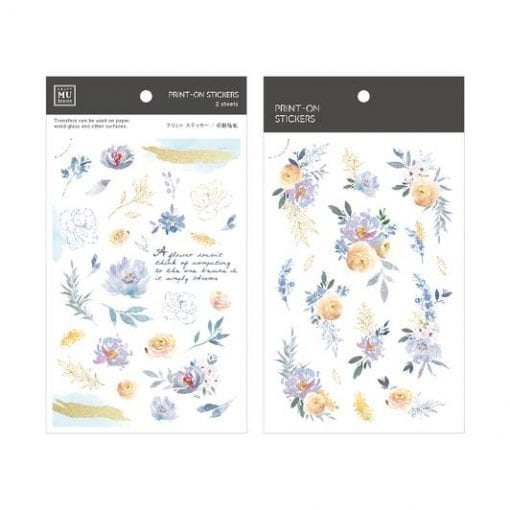 MU Print-On Stickers - Blue Garden BPOP001107