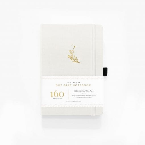 A5 Archer & Olive Moon Flowers Dot Grid Notebook