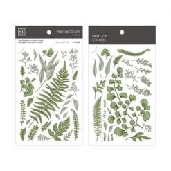 MU Print-On Stickers - Vintage Greens