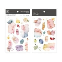 MU Print-On Stickers - Watercolour Pink