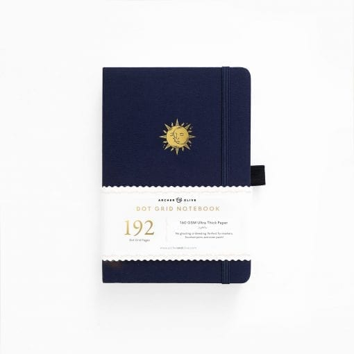 A5 Archer & Olive Autumnal Equinox 192 Pages Dot Grid Notebook