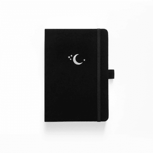 Archer & Olive Silver Crescent Dot Grid Notebook White Pages