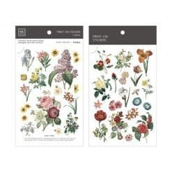 MU Print-On Stickers - Vintage Flowers