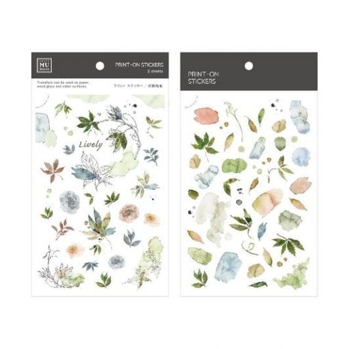 MU Print-On Stickers - Shades of Green and Blue