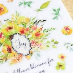 MU Print-On Stickers - Yellow Garden