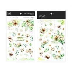 MU Print-On Stickers - Cotton Flowers and Greenery