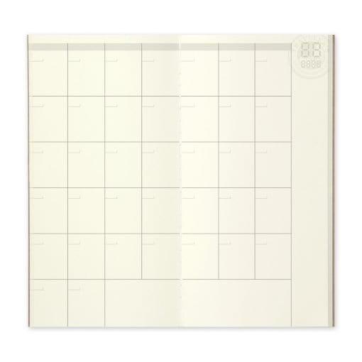 TRAVELER'S Notebook Refill 017 - Free Diary (Monthly)