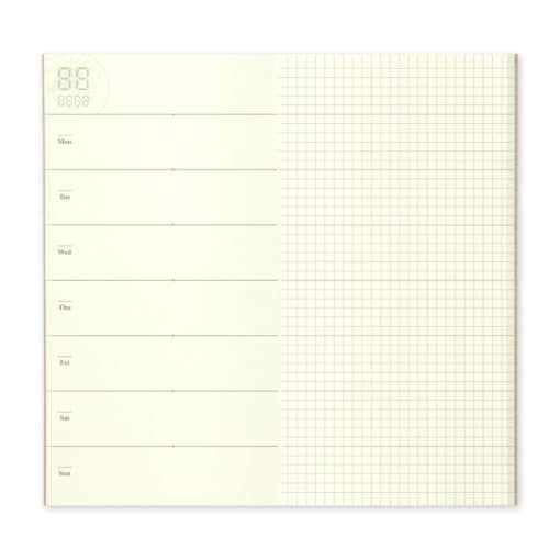 TRAVELER'S notebook Refill Free Diary Weekly + Grid Notebook 019