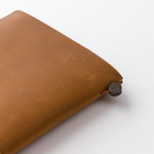 Traveler's Notebook Leather Cover Camel by Traveler's Company Japan - detail