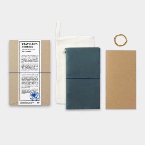 Traveler's Notebook Leather Cover Blue by Traveler's Company Japan