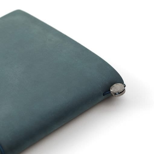 Traveler's Notebook Leather Cover Blue by Traveler's Company Japan detail