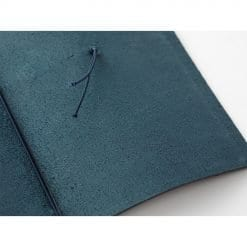 Traveler's Notebook Leather Cover Blue by Traveler's Company Japan inside cover