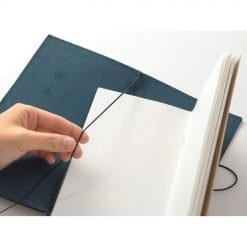 Traveler's Notebook Leather Cover Blue by Traveler's Company Japan setup