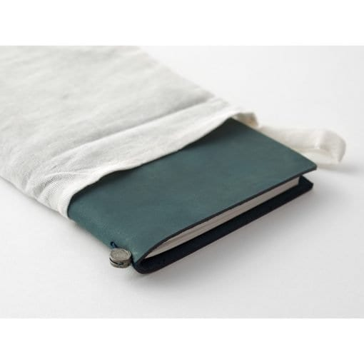 Traveler's Notebook Leather Cover Blue by Traveler's Company Japan dust bag