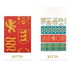 Kitta Washi Stickers KITH002 Gold Foil Details