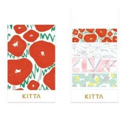 Kitta Washi Paper Stickers Poppies KIT060