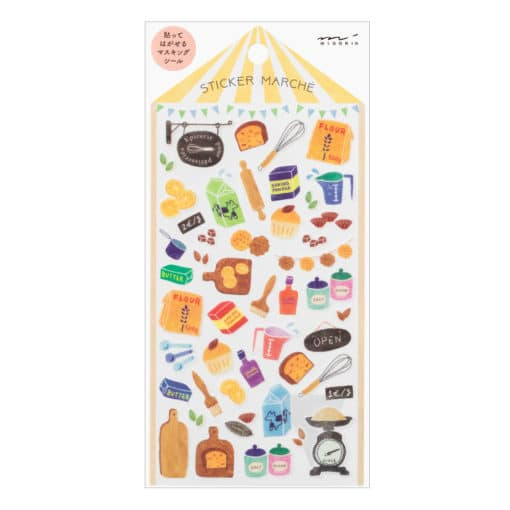 Midori Sticker Marché Tools for Baking